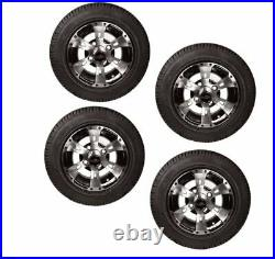 Colossus 10 Machined Face Golf Cart Wheels & Tires- Set of 4
