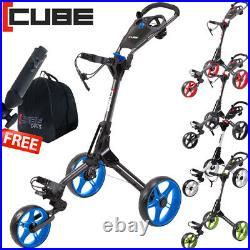 Cube 3 Wheel Compact Push Pull Golf Trolley Cart / Free Gifts! / New 2020