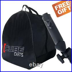 Cube 3 Wheel Compact Push Pull Golf Trolley Cart / Free Gifts! / New 2021
