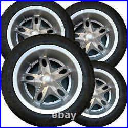 FOUR 215/40-12 Golf Cart TIREs RIMs WHEELs for Club Car Yamaha Ez-Go & many more