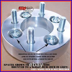FOUR Aluminum Wheel SPACER ADAPTER KIT for Golf Cart 4/4 to 4/4 fits most brands