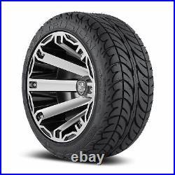 Fairway Alloys FA 12 Rage Golf Cart Car Rim Wheel EFX Low Profile Tires