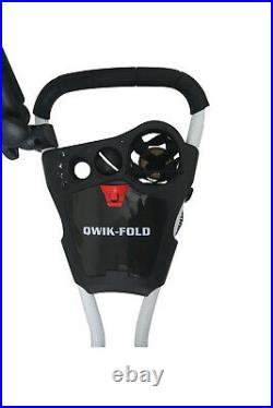 Founders Club Qwik Fold Swerve 360 Swivel 3 Wheel Push Pull Golf Cart Trolley