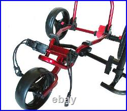 Founders Club Spider 3 Wheel Golf Push Cart with Seat Red