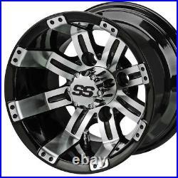 Golf Cart 10 Machined/black Wheels/rims No Tires