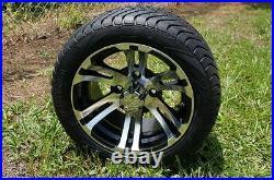 Golf Cart 12x7 PIT BULL Wheels 215/40-12 Wanda Low Profile Tires