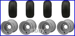 Golf Cart 18x8.50-8 OEM Size Standard Tire Club Car Precedent Gray Wheels (4)
