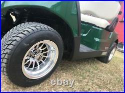 Golf Cart Buggy 10 Silver Alloy Wheel Set Of 4 Fits Club Car Yamaha Ezgo