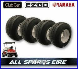 Golf Cart Buggy Wheel & Tyre Assembly Fits Club Car Yamaha Ezgo (4 Wheels)
