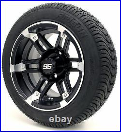 Golf Cart Wheels and Tires 12 Barracuda SS & (215/35-12 or 215/50-12) (x4)