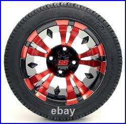 Golf Cart Wheels and Tires 12 Vampire SS & (215/35-12 or 215/50-12) (x4)