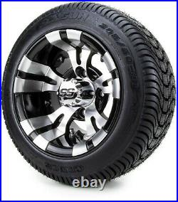 Golf Cart Wheels and Tires Combo 10 Vampire SS with Low Pro Tires Set of 4