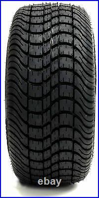 Golf Cart Wheels and Tires Combo 12 Madjax Element Black Set of 4