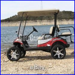 Golf Cart Wheels and Tires Combo 14 RHOX RX260 with All Terrain Tires (x4)
