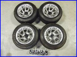 Golf cart wheels and tires Aluminum center caps included
