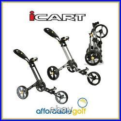 ICart One Golf Push Trolley 3 Wheel Quick Fold Lightweight Cart + Free Gift