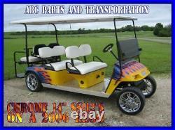 ITP 14 x 6 SS112 Chrome Golf Cart NEV GEM Car Rim Wheel
