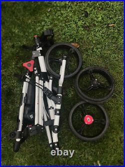 Icart Uno 3-wheel Golf Push Cart Trolley White Umbrella Holder Very Good