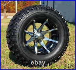Lifted Golf Cart 12x7.5 DRAGON Wheels 23x11.5-12 Wanda All Terrain Tires