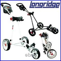 Longridge EZE Glide Cruiser 3-Wheel Golf Push Cart/Trolley NEW! 2020