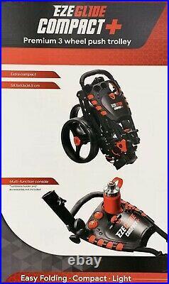 Longridge Ezeglide Compact + Premium 3 Wheel Push Golf Cart Trolley Lightweight