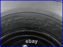MASSFX Wheel and Tire Combo 18x8.5-8 Golf Cart Tire with Black 4/4 Rim 2 Pack
