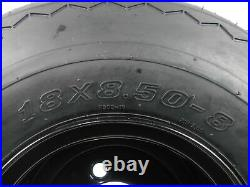 MASSFX Wheel and Tire Combo 18x8.5-8 Golf Cart Tire with Black 4/4 Rim 4 Pack