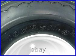 MASSFX Wheel and Tire Combo 18x8.5-8 Golf Cart Tire with White 4/4 Rim 2 Pack