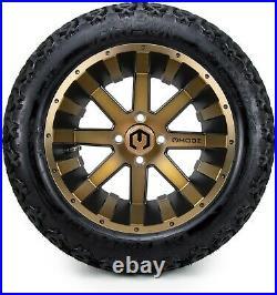 MODZ 14 Assault Bronze Golf Cart Wheels and Tires (23x10.00-14) Set of 4