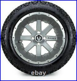 MODZ 14 Assault Gunmetal Golf Cart Wheels and Tires (23x10.00-14) Set of 4