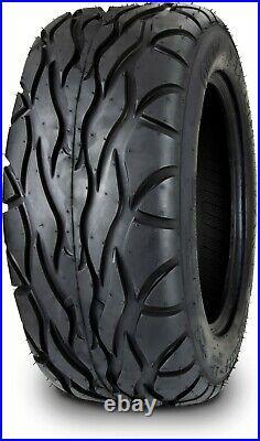 MODZ 14 Godfather Glossy Black Golf Cart Wheels and Radial Tires (23x10-14)