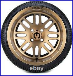 MODZ 14 Mayhem Bronze Golf Cart Wheels and Tires (205-30-14) Set of 4