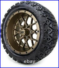MODZ 14 Vortex Bronze Golf Cart Wheels and Tires (23x10.00-14) Set of 4