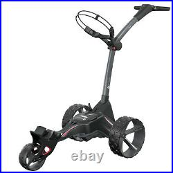 Motocaddy M1 DHC Electric Foldable Lightweight 3 Wheel Golf Caddy Cart, Red