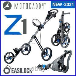 Motocaddy Z1 Push Cart 3-Wheel Golf Trolley Blue NEW! 2021