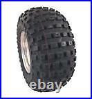 NEW 2 Golf Cart 18 x 9.5-8 All Terrain Knobby Tires on 2 8 White Steel Wheels
