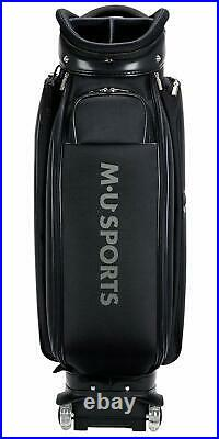 NEW MU SPORTS Japanese Brand Golf Wheel Caddie Bag 703V7155 (BLACK)