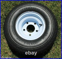 NEW Set Of 4 Tires and 5 LUG Wheels For Golf Cart Carts Taylor Dunn EzGo Cushman