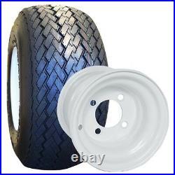 NEW Set Of 4 Tires and Wheels For Golf Cart Club Car Yamaha EzGo Star 18X8.5X8