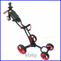 New Hurricane Golf Lightweight Four-Wheeled Push Cart Walk the Course
