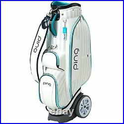 PING Golf Ladies Cart Caddy Bag with Wheel 8.5 x 46 in 4.4kg White Mint CB-L192