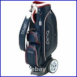 PING Golf Ladies Cart Caddy Bag with Wheel 8.5 x 46 inch 4.4kg Navy CB-L192