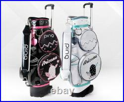 Ping 2020 Arizona WB Women's Wheeled Caddy Bag 8.5in 5Way 11lbs Free EMS / Black