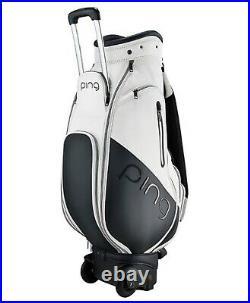 Ping 2021 Star Women Golf Wheeled Caddie Cart Bag 8.5 5Way PVC/Nylon, 4kg-White