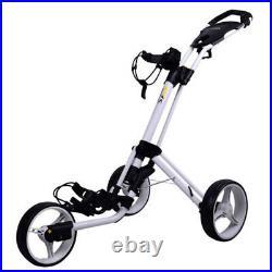 PowaKaddy TwinLine 4 Golf Push Cart Trolley 3-Wheel White NEW! 2020 Model