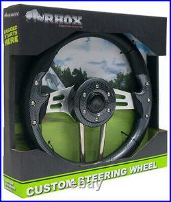 RHOX Aviator Club Car DS 1985-Up Golf Cart Steering Wheel Kit Carbon Fiber