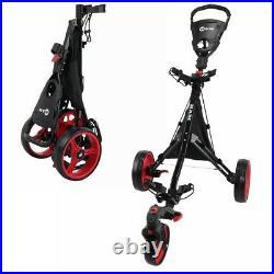 Ram Golf Push Pull 3-Wheel Golf Cart Trolley with 360° Rotating Front Wheel