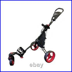 Ram Golf Push / Pull 3-Wheel Golf Cart with 360 Rotating Front Wheel