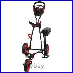 Ram Golf X-Pro Laser 3 Wheel Golf Pull Cart Trolley with Seat
