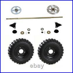 Rear Axle Kit Wheel Hub + 145/70-6 Wheel for Mini ATV Quad Go Kart Cart Golf